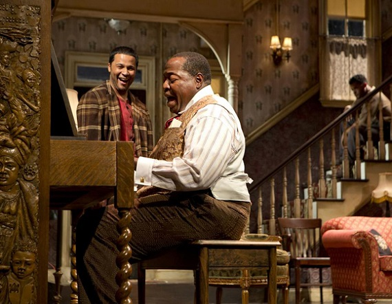 Lucille Lortel Award winner Chuck Cooper with Brandon J. Dirden and Jason Dirden in <i>The Piano Lesson</i>