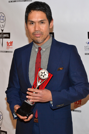Clint Ramos received an Outstanding Scenic Design Lortel Award for his work on the play <i>Wild With Happy</i>.<br />(© David Gordon)