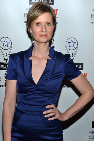 Broadway and off-Broadway veteran Cynthia Nixon also served as one of the evening's presenters.<br />(© David Gordon)