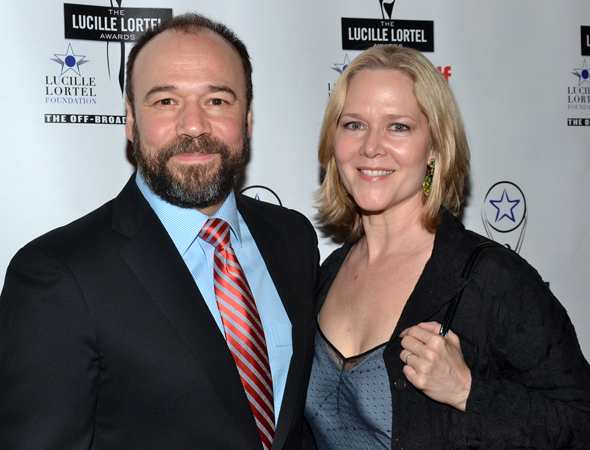<i>Talley's Folly</i> nominee Danny Burstein brought wife Rebecca Luker as his date for the evening.<br />(© David Gordon)