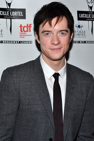 Matthew James Thomas spent his night off from Broadway's <i>Pippin</i> at the Lortel Awards.<br />(© David Gordon)