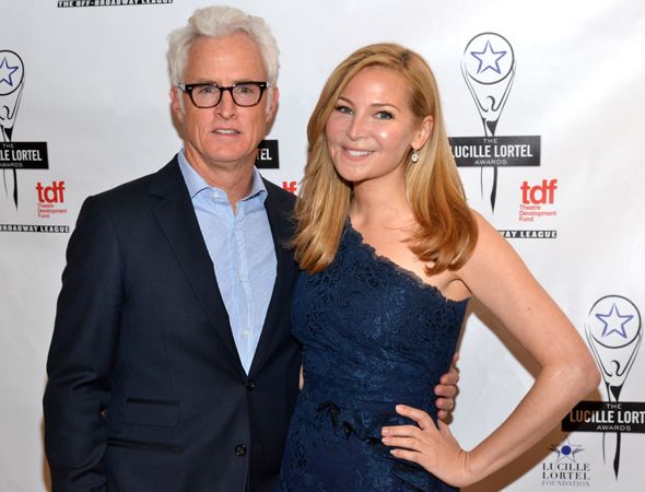 Pals John Slattery and Jennifer Westfeldt presented one of the evening's awards together.<br />(© David Gordon)