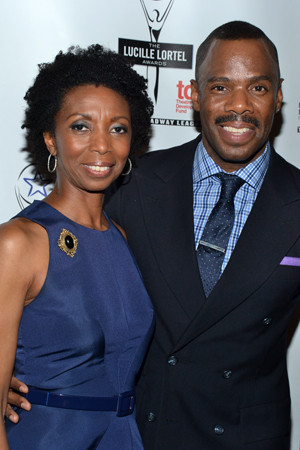 Sharon Washington and Colman Domingo celebrate their play, <i>Wild With Happy</i>.<br />(© David Gordon)