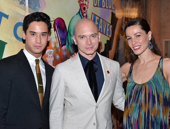 Michael Rosen and Michael Cerveris pose with Natalia Alonso who is playing dancer Maria Tallchief. Alonso is a dancer in her own right, having appeared with Complexions Contemporary Ballet and Ballet Hispanico.<br />(© David Gordon)