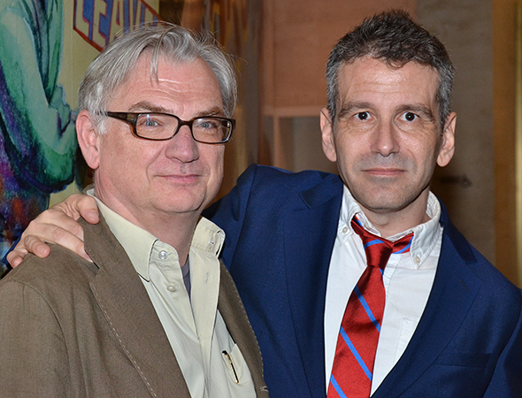 Here is Tony Award-winning playwright Richard Nelson with director David Cromer. <br />(© David Gordon)