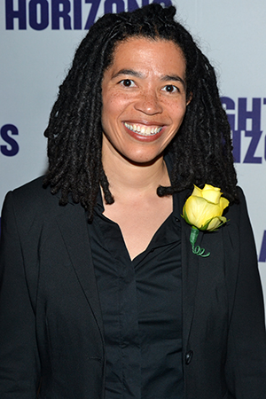 Tanya Barfield is the author of <I>The Call</I>, which is currently receiving an extended run at Playwrights Horizons.<br />(© David Gordon)