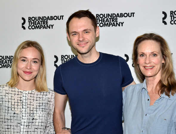 Joining Denham are Sarah Goldberg and Lisa Emery, who take on the roles of Katie Nicholson and Karen Brown-Canedy.  <br />(© David Gordon)