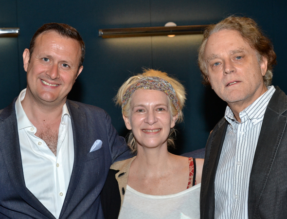 Director Gene David Kirk and his two stars, Amanda Plummer and Brad Dourif.