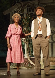 Cicely Tyson and Cuba Gooding Jr. in <i>The Trip to Bountiful</i>