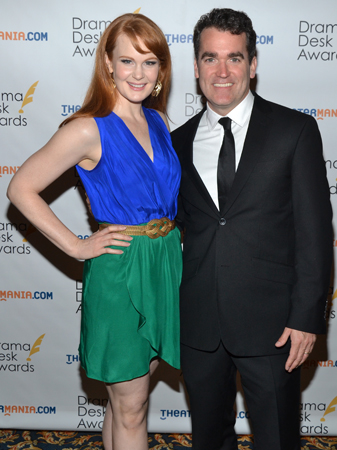 Kate Baldwin and Brian d'Arcy James — acting nominees for <i>Giant</i>.<br />(© David Gordon)