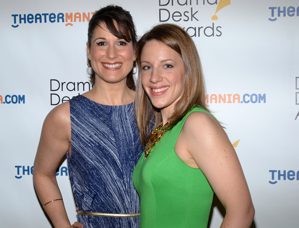 Stephanie J. Block and Jessie Mueller — acting nominees for <i>The Mystery of Edwin Drood</i>.<br />(© David Gordon)