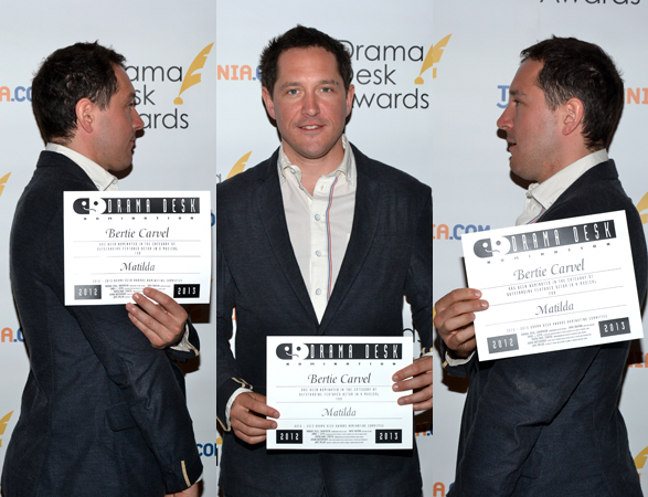 Bertie Carvel — Outstanding Featured Actor in a Musical nominee for <i>Matilda</i>.<br />(© David Gordon)