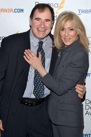 Richard Kind and Judith Light — Outstanding Featured Acting nominees for <i>The Big Knife</i> and <i>The Assembled Parties</i>, respectively.<br />(© David Gordon)