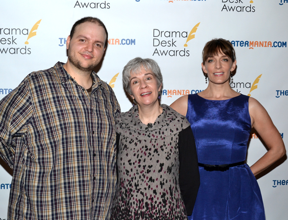 <i>Falling</i> nominees Daniel Everidge, Deanna Jent, and Julia Murney.<br />(© David Gordon)