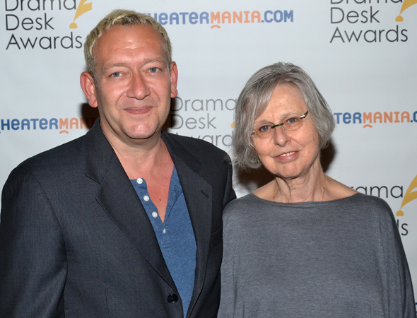 <i>Giant</i> creators and nominees Michael John LaChiusa and Sybille Pearson.<br />(© David Gordon)
