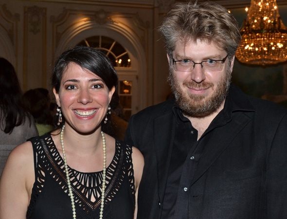 <i>Natasha, Pierre & The Great Comet of 1812</i> nominees Rachel Chavkin (director) and Dave Molloy (music/lyrics).<br />(© David Gordon)