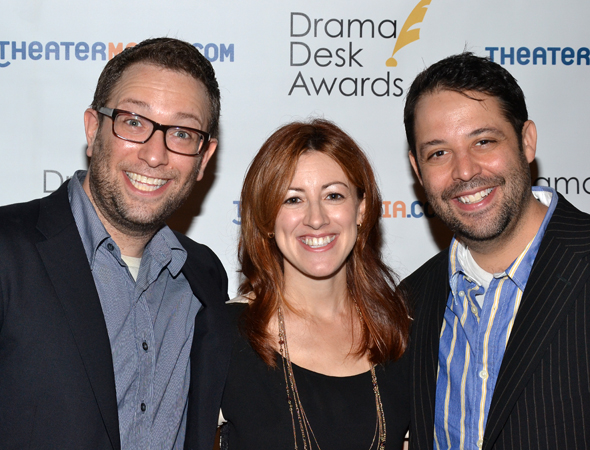 <i>The Other Josh Cohen</i> nominees David Rossmer, Kate Wetherhead, and Steve Rosen.<br />(© David Gordon)