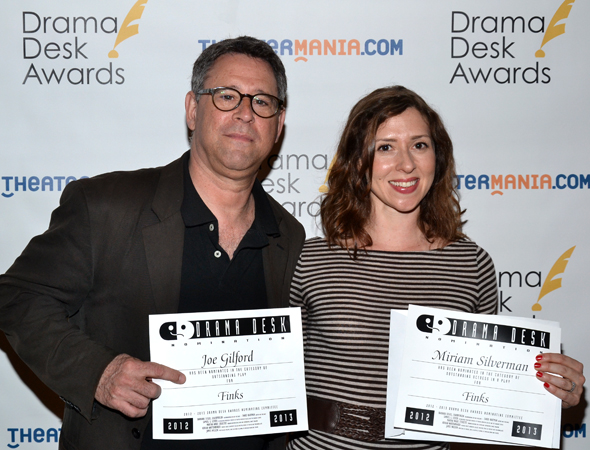 <i>Finks</i> nominees Joe Gilford and Miriam Silverman.<br />(© David Gordon)