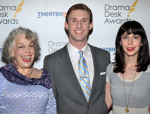 Marilyn Sokol, Bill Army, and Audrey Lynn Weston of Outstanding Revue nominee <i>Old Jews Telling Jokes</i>.<br />(© David Gordon)