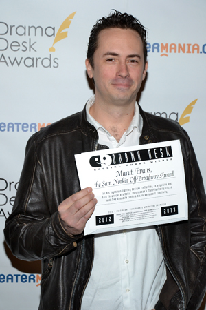 Maruti Evans — recipient of the Sam Norkin Off-Broadway Award for lighting designs.<br />(© David Gordon)