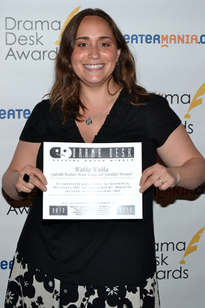Gabrielle Brechner of Wakka Wakka, a troupe receiving a special award for sophisticated puppet theater. <br />(© David Gordon)
