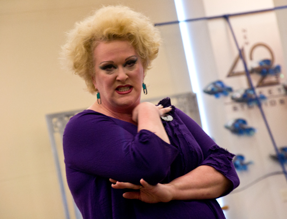 Liz McCartney takes on the role of the evil sea witch, Ursula.<br />(© David Gordon)