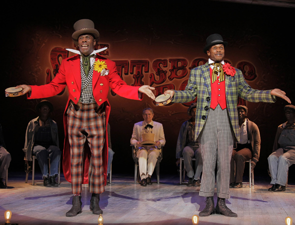 Colman Domingo and Forrest McClendon in Broadway's <i>The Scottsboro Boys</i>