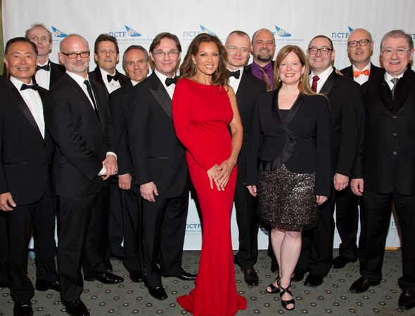 Honorees and presenters at the 2013 NCTF Gala honoring the 50th anniversary of five regional theaters (pictured from left to right): George Takei, Jerry Manning, Michael Wilson, Ben Moore, Michael Gennero, Richard Thomas, Vanessa Williams, Darko Tresnjak, Curt Columbus, Jennifer Bielstein, Michael Stotts, Bruce Whitacre, and Joe Dowling