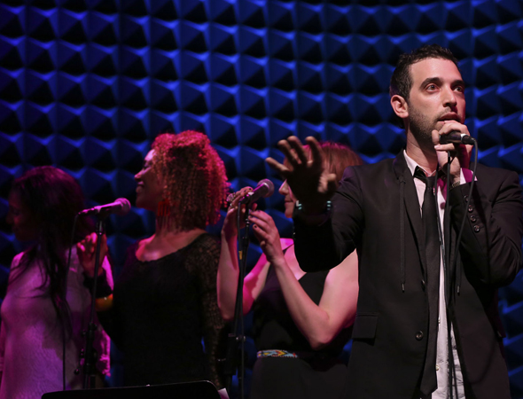 Semhar Ghebremichael, Victoria Platt, Emilee Dupre, and Matt Sax perform a preview of <i>Venice</i> at Joe's Pub.<br />(© Tammy Shell)