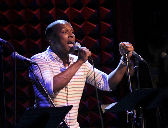 Leslie Odom Jr. performs a selection from the new musical <i>Venice</i>, at Joe's Pub.<br />(© Tammy Shell)