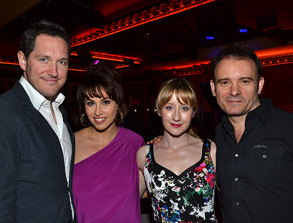 <i>Matilda</i> stars Bertie Carvel, Lesli Margherita, Lauren Ward, and director Matthew Warchus are on hand to celebrate their show.<br />(© David Gordon)