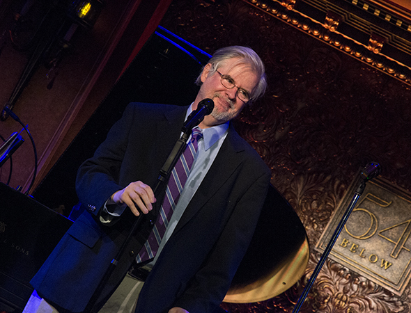 <i>Vanya and Sonia and Masha and Spike</i> playwright Christopher Durang takes the stage to accept his award.<br />(© David Gordon)