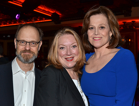 David Hyde Pierce, Kristine Nielsen, and Sigourney Weaver are the stars of <i>Vanya and Sonia and Masha and Spike</i>.<br />(© David Gordon)
