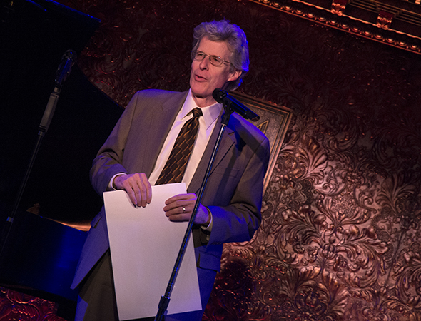 Ted Chapin accepts the honor on behalf of New York City Center Encores!<br />(© David Gordon)