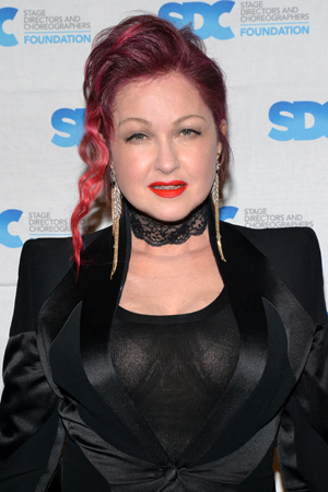 2013 Tony Award nominee Cyndi Lauper is the coauthor of <i>Kinky Boots</i>, Jerry Mitchell's most recent musical.<br />(© David Gordon)
