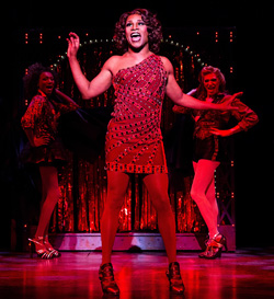 Billy Porter as Lola in <I>Kinky Boots</I>.