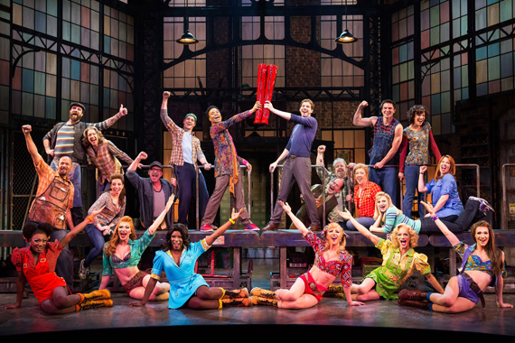 Billy Porter and the cast of <I>Kinky Boots</I>.