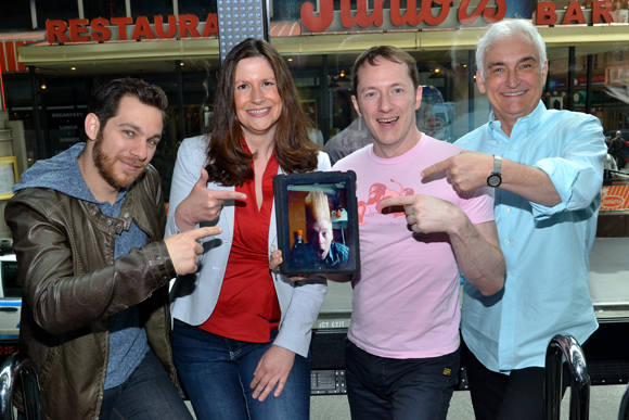 Jon Stancato, Heather Hill, Bello Nock (via Skype), Tom Gualtieri, and Richard Humphrey on The Fazzino Ride
