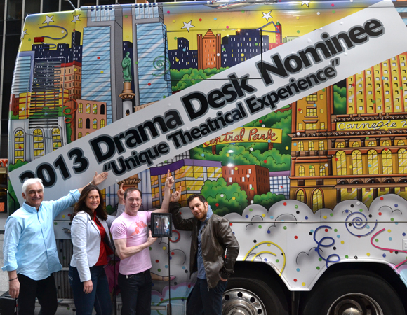 "Some of the 2013 Drama Desk nominees for ""Unique Theatrical Experience."""