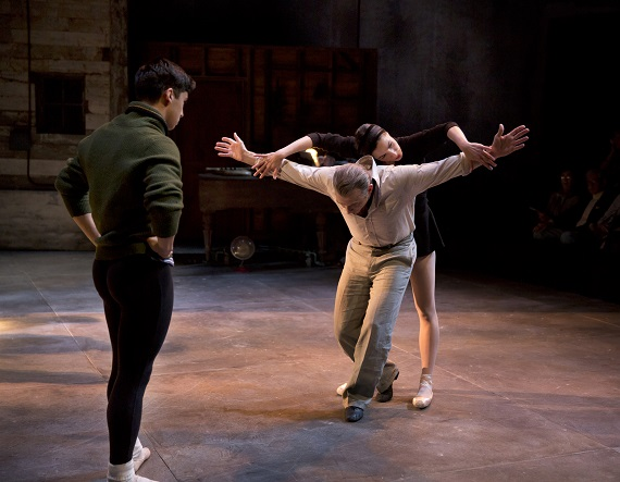 Michael Rosen, Michael Cerveris, and Natalia Alonso in <i>Nikolai and the Others</i>.