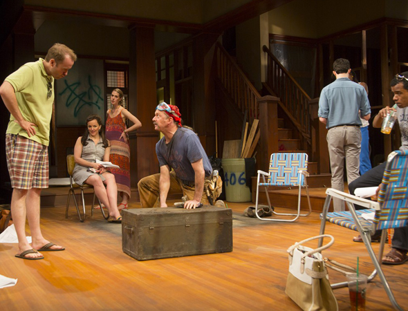 Pictured from left to right: Alex Moggridge, Alice Ripley, Lucy Owen, Daniel Jenkins, Jimmy Davis, Melle Powers and LeRoy McClain in scene from Act II.<br />© T Charles Erickson