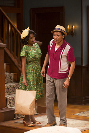 Melle Powers as Francine and LeRoy McClain as Albert in a scene from Act I.<br />© T Charles Erickson