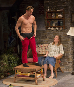 Billy Magnussen and Kristine Nielsen in <I>Vanya and Sonia and Masha and Spike</I>.