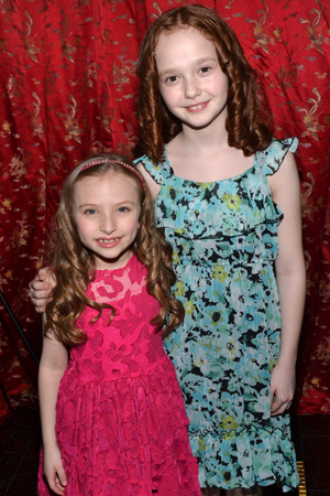 Show orphans Emily Rosenfeld and Taylor Richardson are dressed for the best.<br />(© David Gordon)