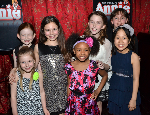 The young orphans of <i>Annie</i> are ready to party!<br />(© David Gordon)