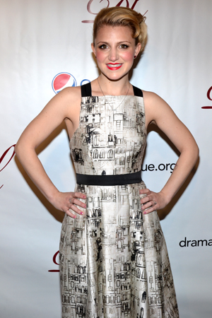 Annaleigh Ashford, one of the stars of <i>Kinky Boots</i>, which was nominated for the Outstanding Production of a Broadway or off-Broadway Musical award.<br />(© David Gordon)