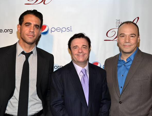 Distinguished Performance Award nominees Bobby Cannavale, Nathan Lane, and Danny Burstein.<br />(© David Gordon)