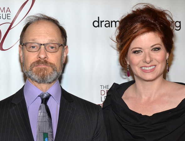 David Hyde Pierce and Debra Messing, who served as the afternoon's hosts.<br />(© David Gordon)