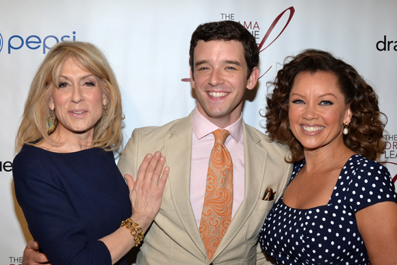 An <i>Ugly Betty</i> reunion with 2013 Distinguished Performance Award nominees Judith Light, Michael Urie, and Vanessa Williams.<br />(© David Gordon)