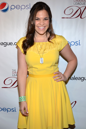Lindsay Mendez, Distinguished Performance Award nominee for <i>Dogfight</i>.<br />(© David Gordon)